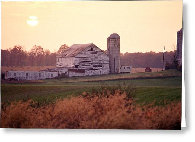 Rockville Greeting Cards - A Farm In Rockville, Maryland Greeting Card by Richard Nowitz