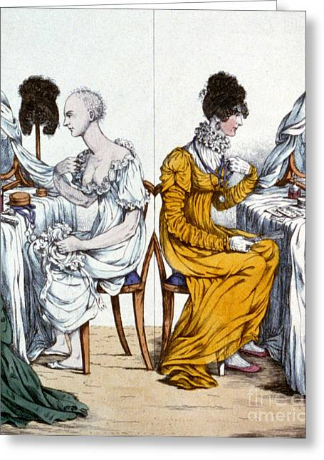 Fad Greeting Cards - A Fashionable Lady, Undressed Greeting Card by Science Source