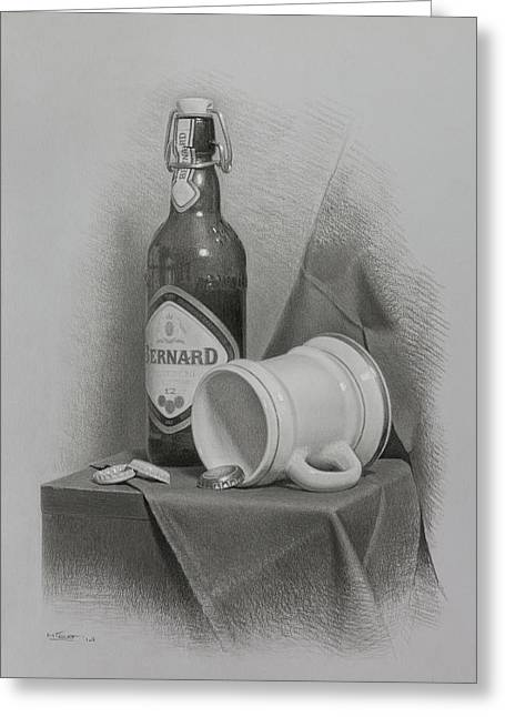 A Few Beers Greeting Card by Miroslav Ivanov
