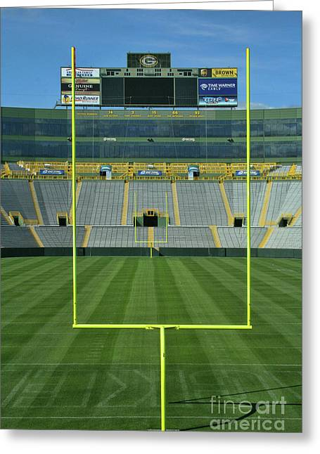 Lambeau Field Greeting Cards - A Field of Honor Greeting Card by Tommy Anderson