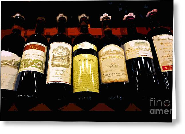 Fine Bottle Greeting Cards - A fine selection Greeting Card by David Lee Thompson
