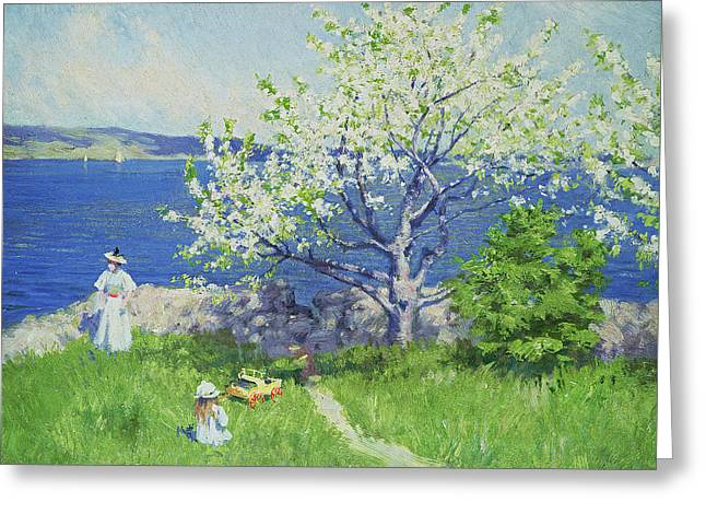 Mothers And Daughters Greeting Cards - A fjord near Oslo Greeting Card by Paul Fischer