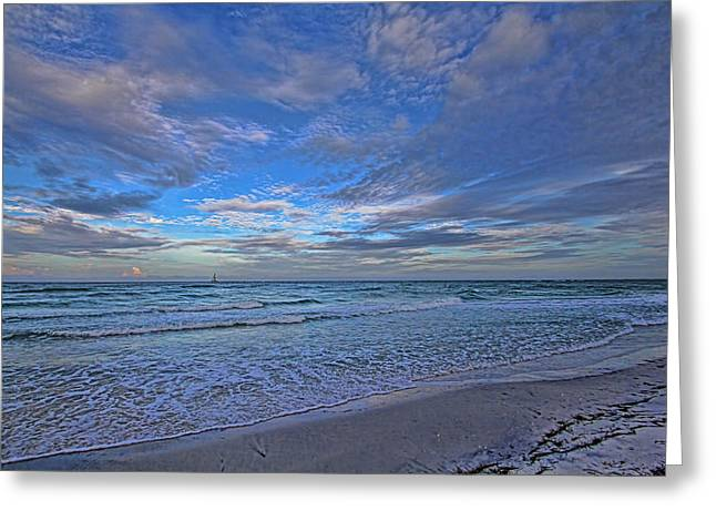Ocean Art. Beach Decor Greeting Cards - A Florida Suncoast Morning by H H Photography of Florida Greeting Card by HH Photography of Florida