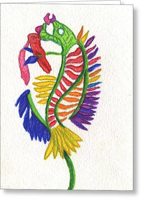 Valentines Day Drawings Greeting Cards - A Flower for accidentally killing your fish Greeting Card by Kd Neeley