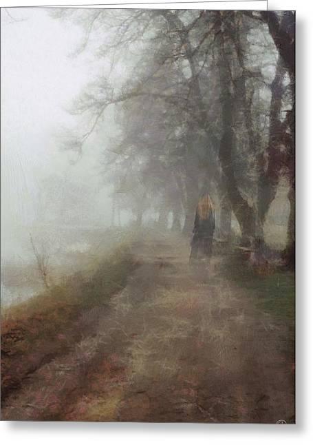 Walk Paths Digital Art Greeting Cards - A foggy day Greeting Card by Gun Legler