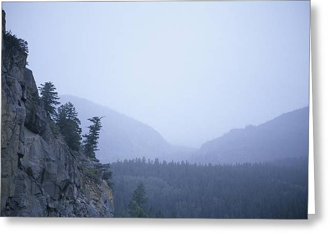 Dreads Greeting Cards - A Foggy, Rainy Day In The Rocky Greeting Card by Taylor S. Kennedy