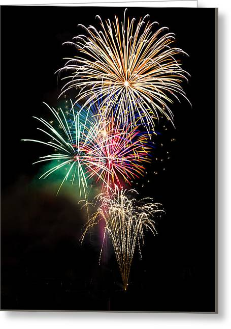 4th July Greeting Cards - A Fourth of July Bouquet  Greeting Card by Saija  Lehtonen