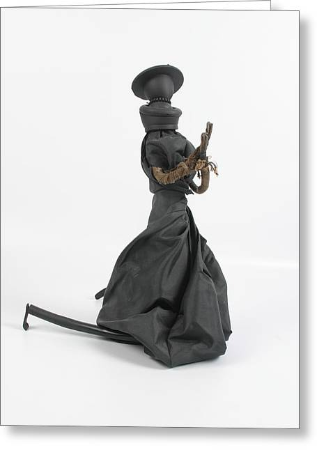 Praying Sculptures Greeting Cards - A Frayed Nun The Less Greeting Card by Michael Jude Russo