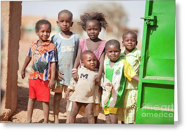 Obama Children Greeting Cards - A Fulani Childhood V Greeting Card by Irene Abdou