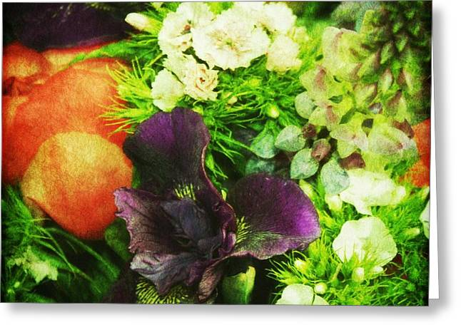 Iris Digital Art Greeting Cards - A full Bouquet Greeting Card by Cathie Tyler
