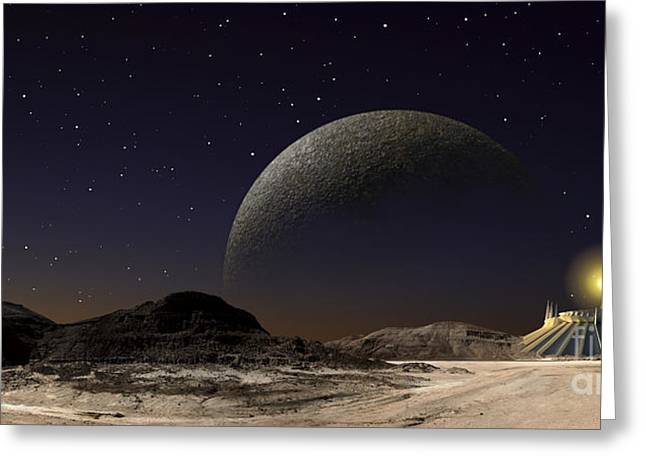 A Futuristic Space Scene Inspired Greeting Card by Frank Hettick