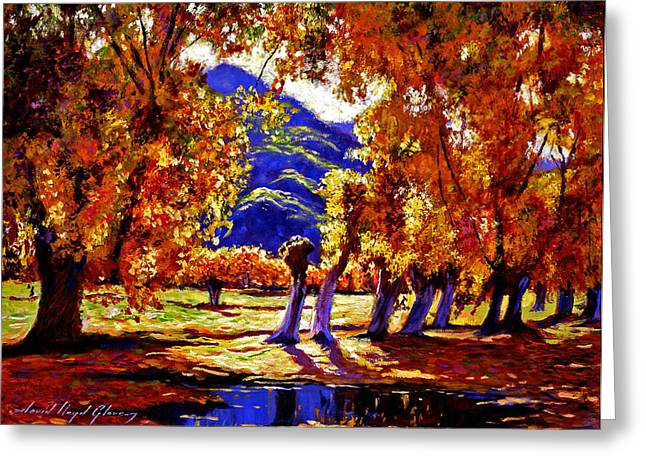 Autumn Landscape Paintings Greeting Cards - A Galaxy of Autumn Color Greeting Card by David Lloyd Glover