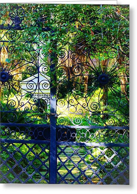 Recently Sold -  - Iron Greeting Cards - A Garden Glimpse Greeting Card by Stacey Rosebrock