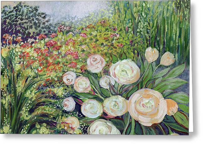 Impressionist Greeting Cards - A Garden Romance Greeting Card by Jennifer Lommers