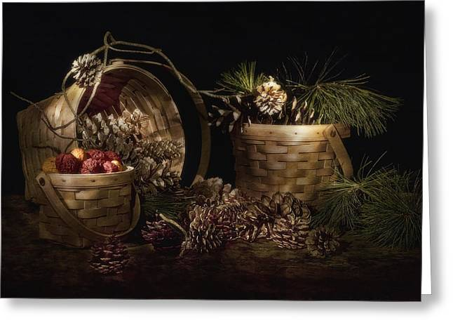 Seasonal Prints Rural Prints Greeting Cards - A Gathering of Pine Greeting Card by Tom Mc Nemar