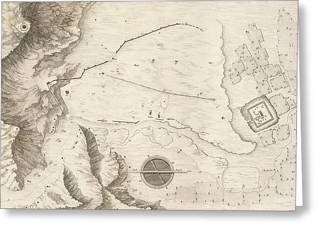 A Geometrical Plan Of The Ruined City Of Palmyra, 1753 Greeting Card by Giovanni Battista Borra