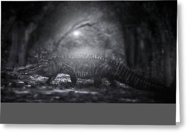 A Giant In The Forest Greeting Card by Mark Andrew Thomas