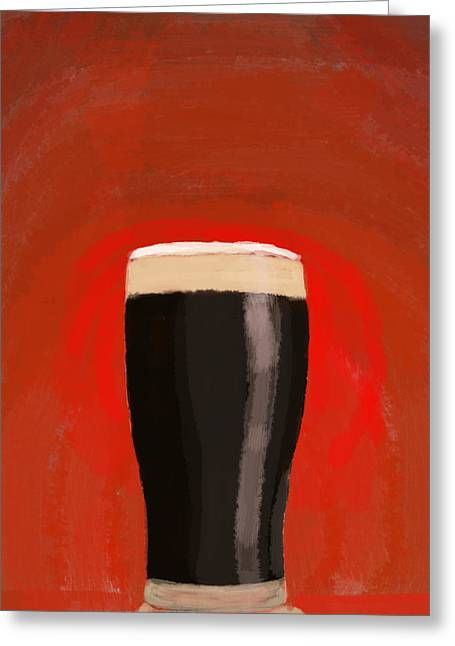 A Glass Of Stout Greeting Card by Keshava Shukla