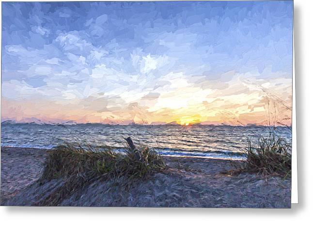 A Glass Of Sunrise II Greeting Card by Jon Glaser