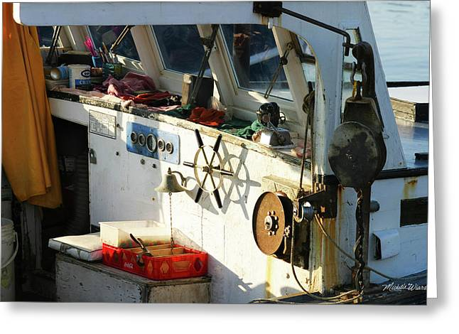 A Gloucester Fishermans Desk Greeting Card by Michelle Wiarda