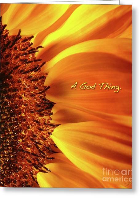 A God Thing-2 Greeting Card by Shevon Johnson