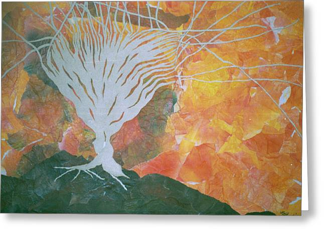 Tree Roots Mixed Media Greeting Cards - A Golden Time Of The Day Greeting Card by Roy Woods