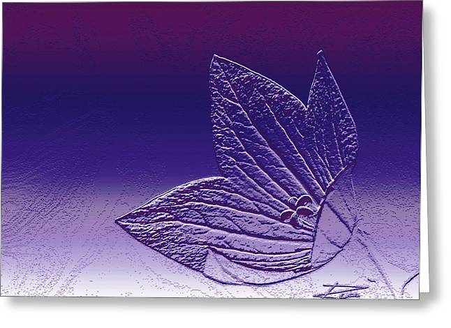 A Good Day For Purple Greeting Card by Barbara  White