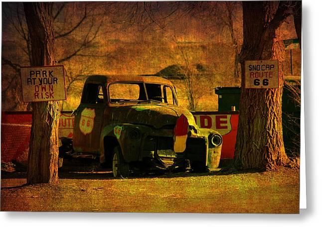 A Good Parking Spot Greeting Card by Susanne Van Hulst