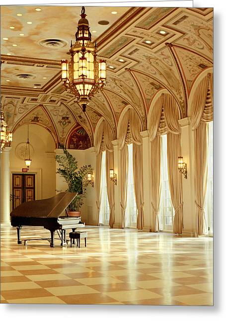 Ballroom Greeting Cards - A Grand Piano Greeting Card by Rich Franco