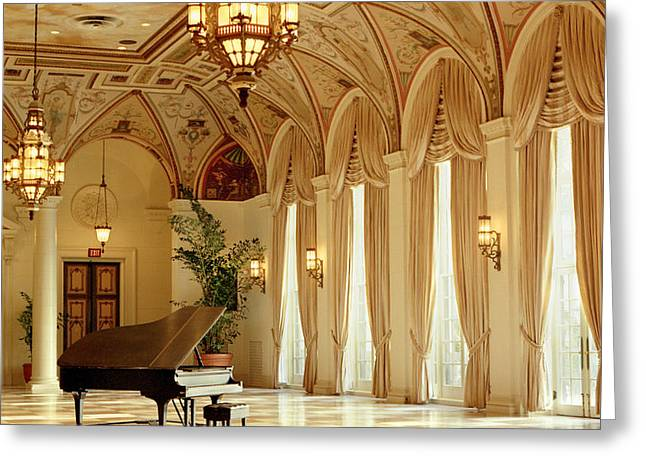 A Grand Piano Greeting Card by Rich Franco