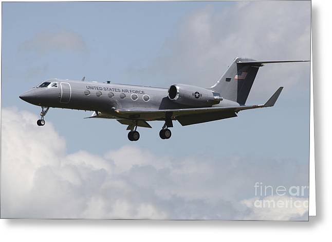 Landing Gear Greeting Cards - A Gulfstream C-20h Executive Transport Greeting Card by Timm Ziegenthaler