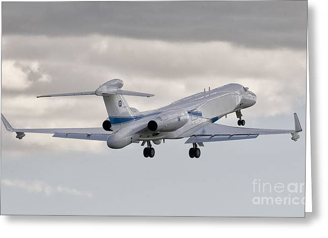 Commercial Airplane Greeting Cards - A Gulfstream G550 Eitam Of The Israeli Greeting Card by Giovanni Colla