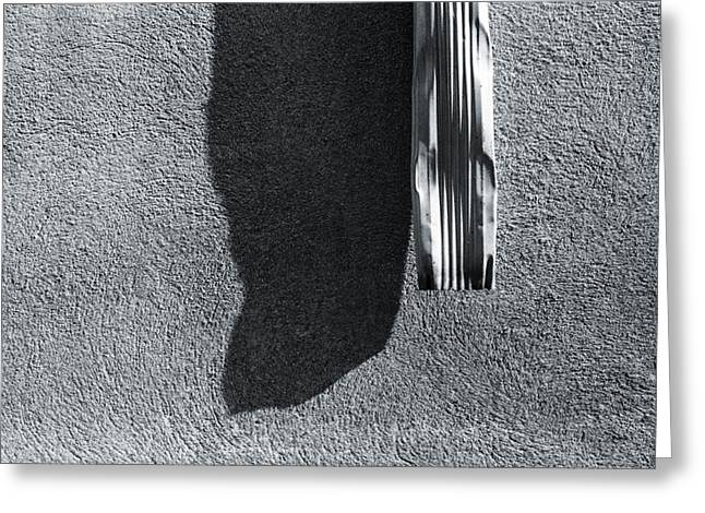 Residential Structure Greeting Cards - A Gutter and its Shadow Greeting Card by Thomas Shanahan