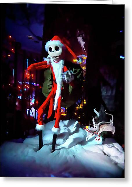 A Haunted Christmas Greeting Card by Mark Andrew Thomas