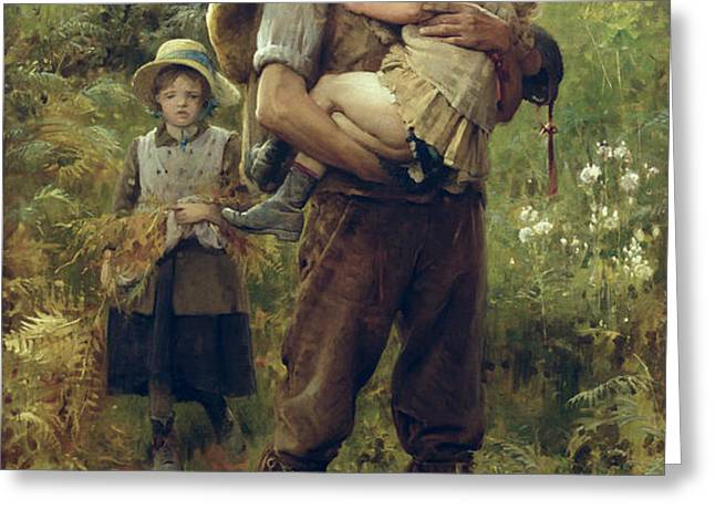 A Heavy Burden Greeting Card by Arthur Hacker