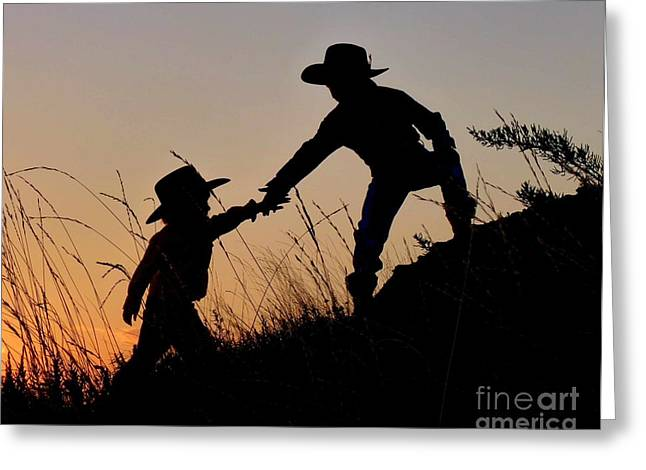 A Helping Hand Greeting Card by Carla Froshaug