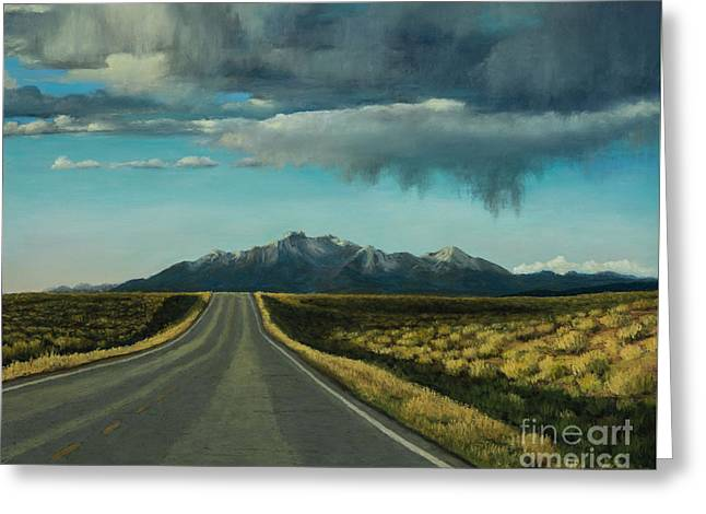 Highway Pastels Greeting Cards - A Highway to the Rockies Greeting Card by Xenia Sease