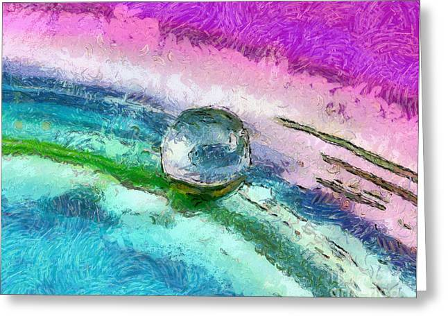 Abstract Globes Greeting Cards - A Hopeful New World Greeting Card by Krissy Katsimbras