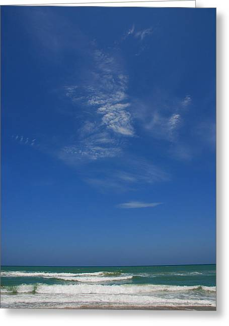 Sandy Beaches Greeting Cards - A hot afternoon at the beach Greeting Card by Susanne Van Hulst