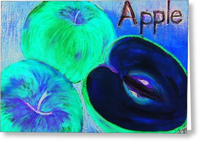 Picking Pastels Greeting Cards - A is for Apple Greeting Card by Sherlyn Andersen