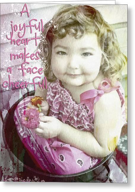 A Joyful Heart Greeting Card by Michelle Greene Wheeler