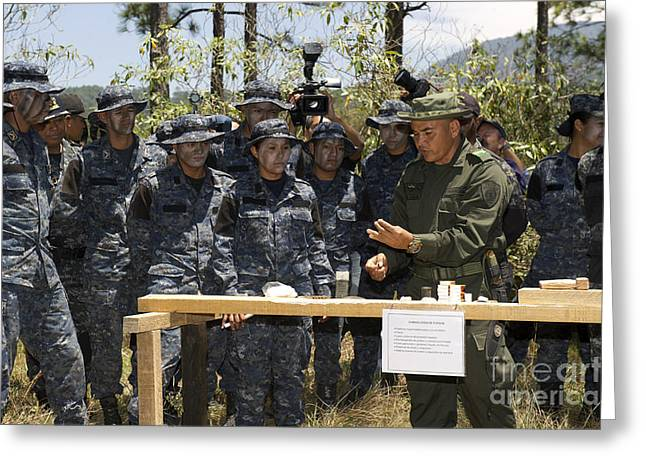 Military Police Greeting Cards - A Jungla From The Columbian National Greeting Card by Stocktrek Images
