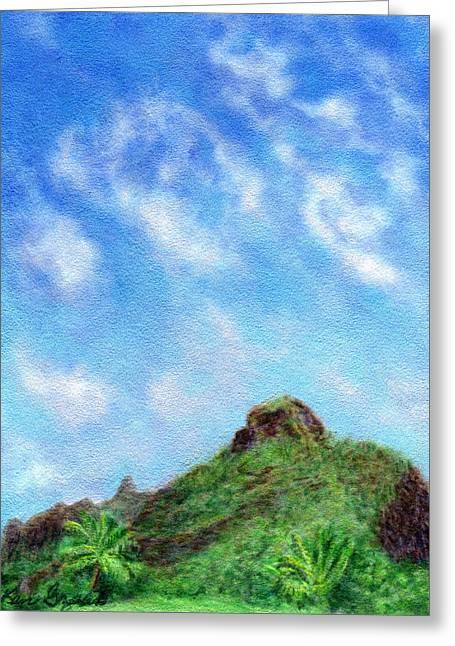 Coastal Decor Pastels Greeting Cards - A Kauai Sky Greeting Card by Kenneth Grzesik