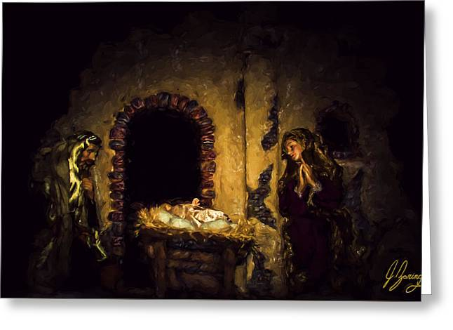 Night Angel Greeting Cards - A King Is Born Greeting Card by Joshua Zaring