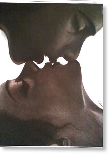 Souls Greeting Cards - A kiss to Soul Mate Greeting Card by Prashant Maru