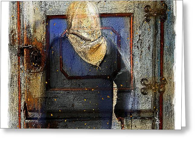 Doorway Digital Greeting Cards - A Knock On The Door Greeting Card by Bob Salo