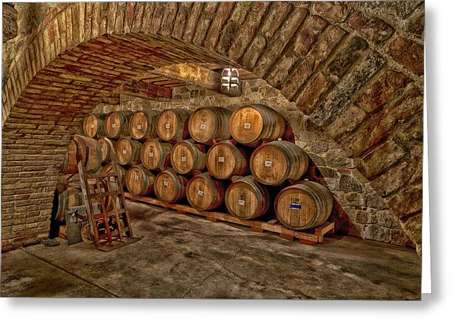 Italian Wine Greeting Cards - A Labor Of Love Greeting Card by Mountain Dreams