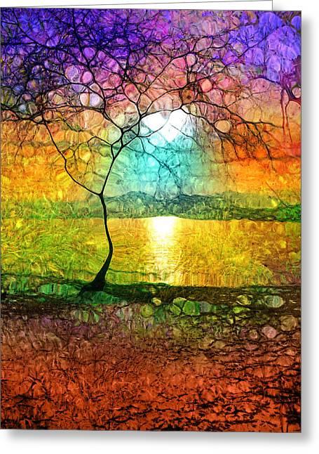 Naramata Greeting Cards - A Light Like Love Greeting Card by Tara Turner