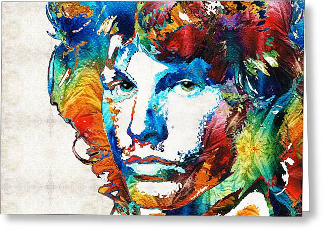 Pop Icon Paintings Greeting Cards - A Lighted Fire Greeting Card by Sharon Cummings