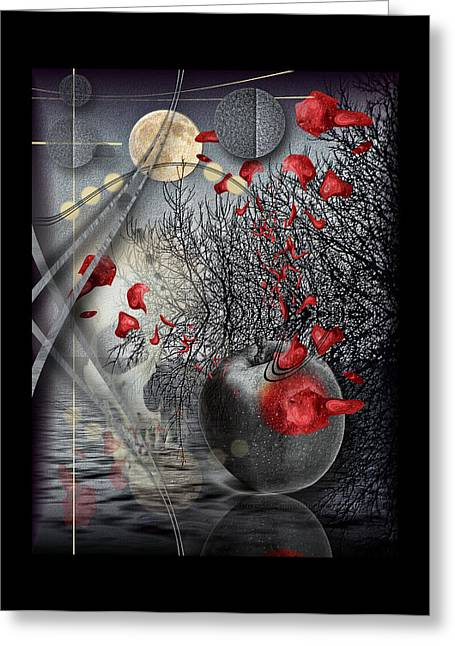 Subconscious Digital Art Greeting Cards - A Little Bit Of Death Between The Worlds Greeting Card by Mimulux patricia no